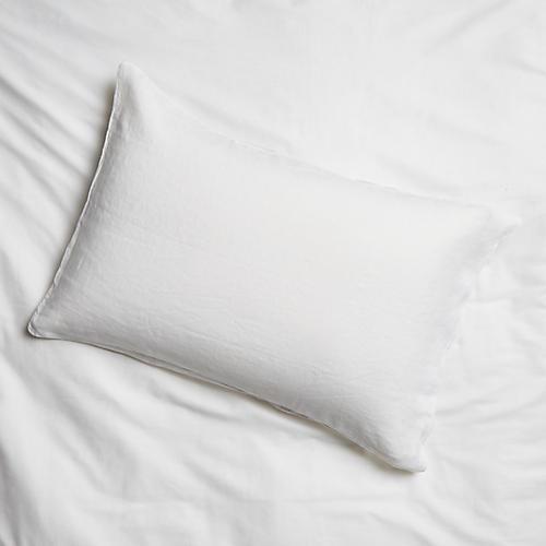 Washed Linen Shams, White