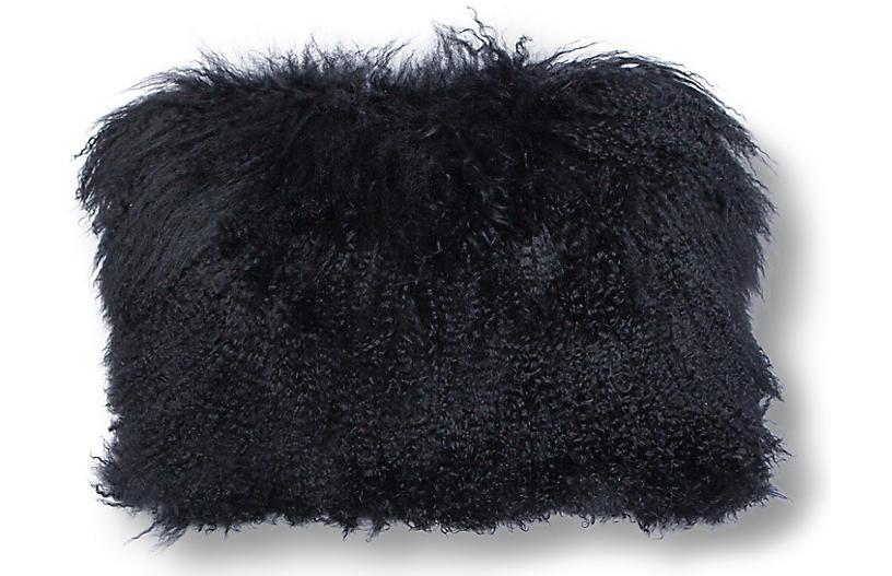 Tibetan Lumbar Pillow, Black