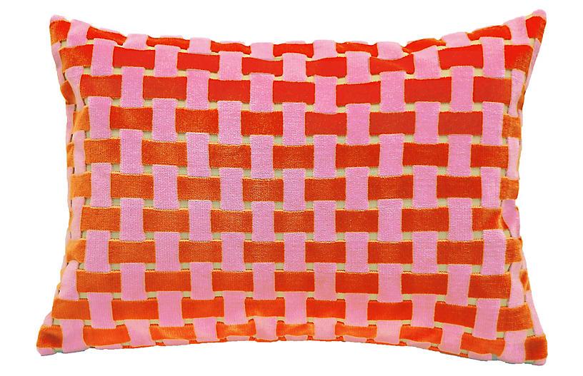 Gwen 16x24 Velvet Pillow, Pink