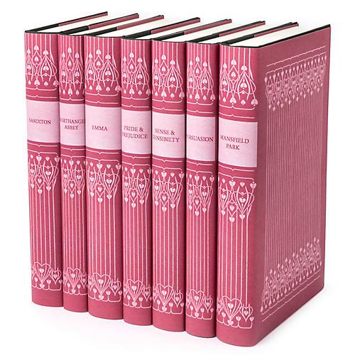 S/7 Pink Jane Austen Book Set