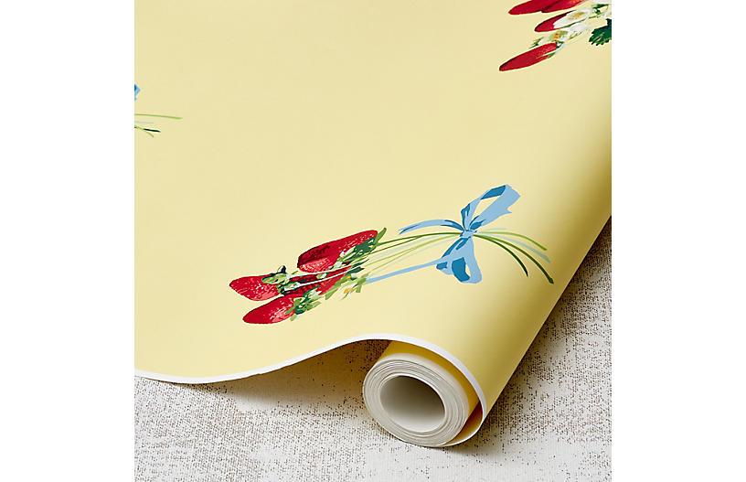Nathan Turner Strawberry Is My Jam Wallpaper, Yellow