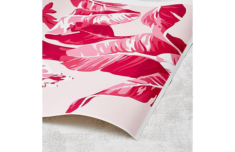 Nathan Turner Electric Palm Wallpaper, Pink