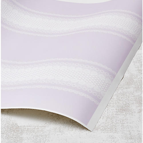 Nathan Turner Lace-Front Wallpaper, Lilac
