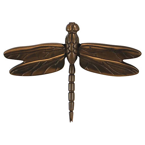 Dragonfly Door Knocker, Oiled Bronze