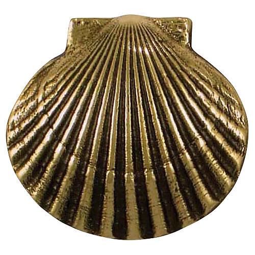Bay Scallop Doorbell Ringer, Brass