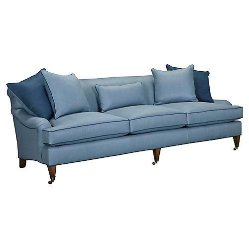Santa Barbara Sofa, Medium Blue Linen