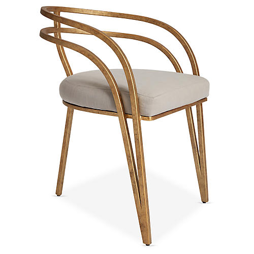 Rhodes Side Chair, Greige