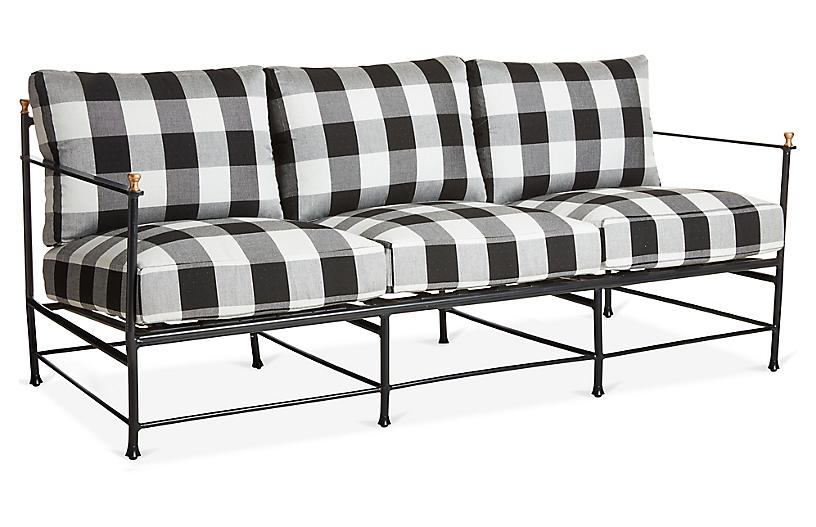 Frances Sofa, Gingham