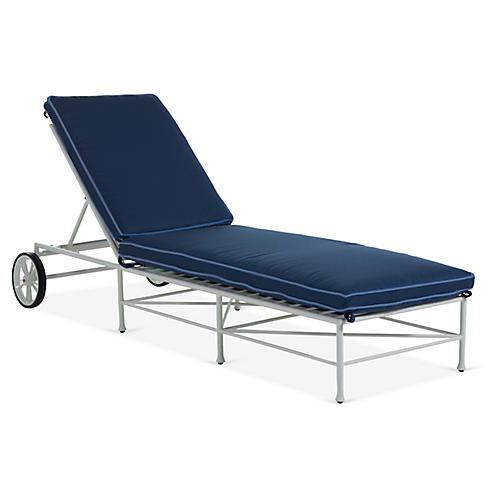 Celia Chaise, Navy/Blue