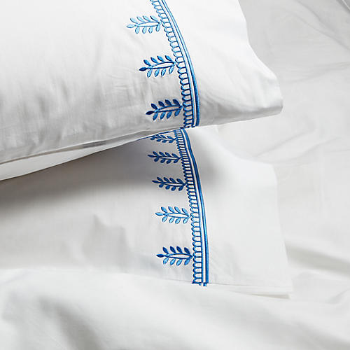 S/2 Vivaan Pillowcases, Jay Blue