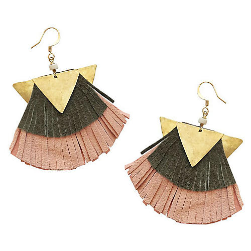 Dash Dash Drop Earrings, Pink/Multi
