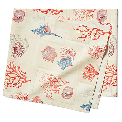 Corals Table Runner, Pink/Multi