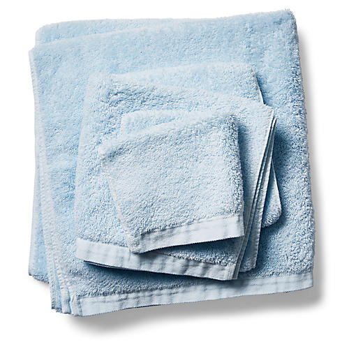 3-Pc Riviera Towels, Misty Blue