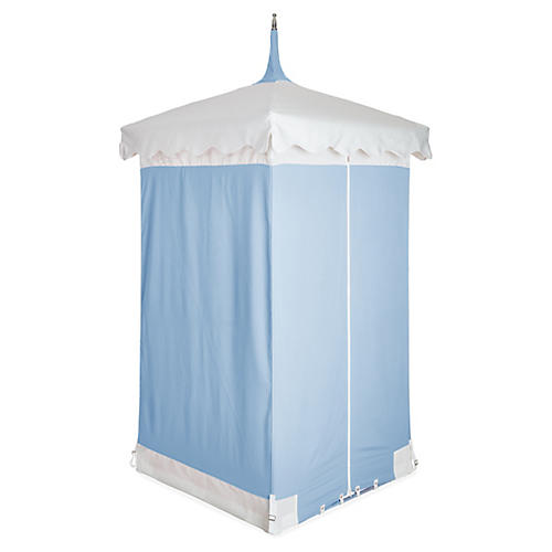 Exuma Outdoor Cabana, Blue/White Sunbrella