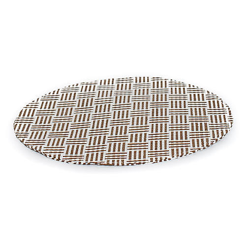 S/4 Linear Place Mats, White/Tan