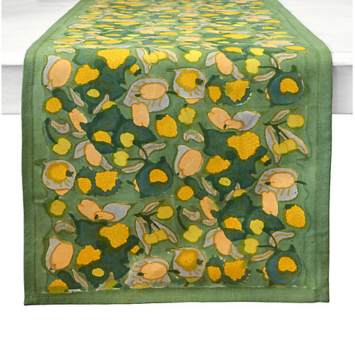 Fruit Table Runner, Yellow/Green
