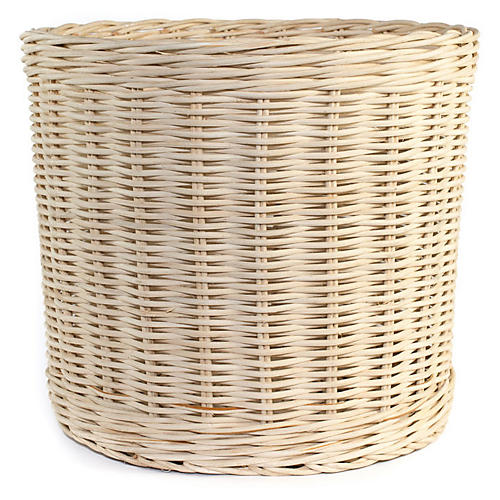 Wicker Planter, Blonde