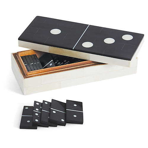 Vigor Dominoes Set, Black/White