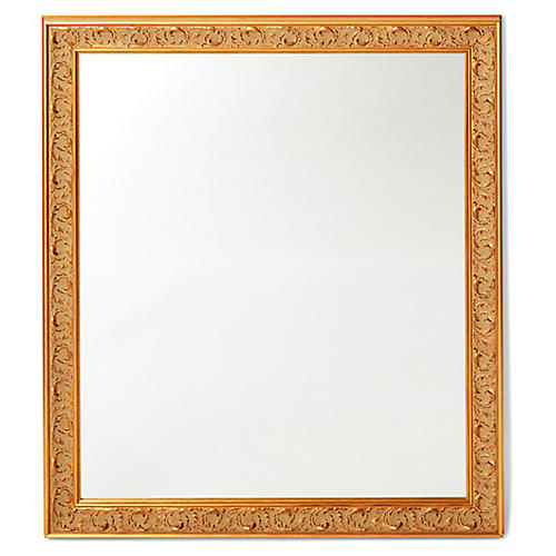 Kitson Wall Mirror, Gold/Brown