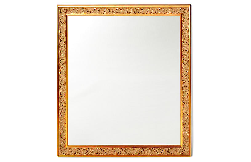 Kitson Wall Mirror, Gold/Brown