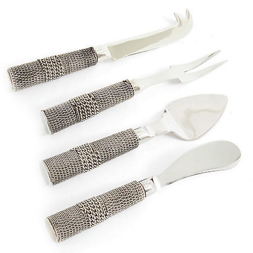 Asst. of 4 Wharton Cheese Knives, Silver