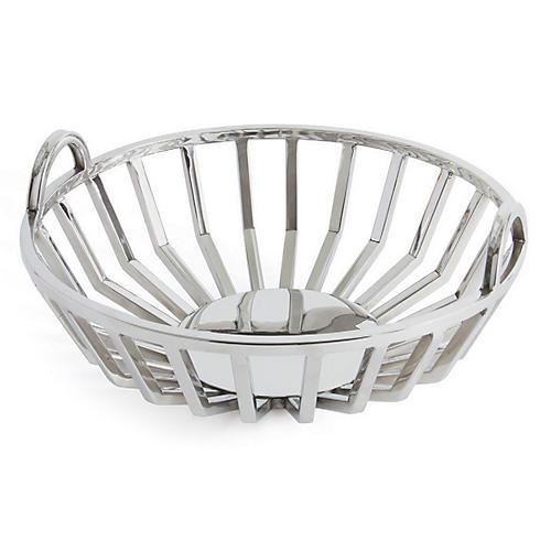"14"" Gates Decorative Bowl, Silver"