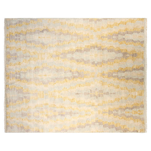 8'x10' Jamie Hand-Knotted Rug, Gold