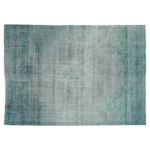 "9'6""x13'3"" Gia Hand-Knotted Rug, Mint"