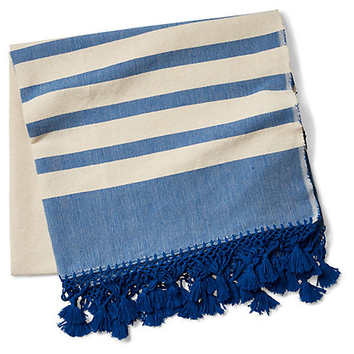 Kata Striped Beach Blanket, Blue