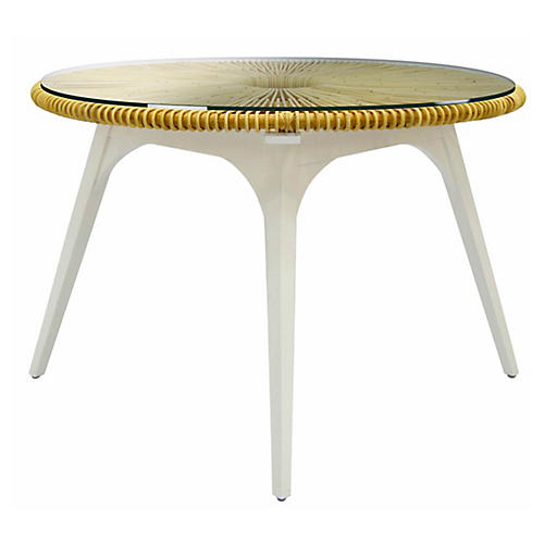 Clemente Dining Table, White