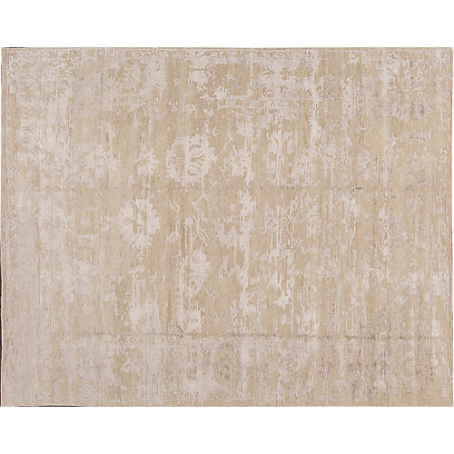 "7'11""x9'11"" Modern Abstract Rug, Cream"