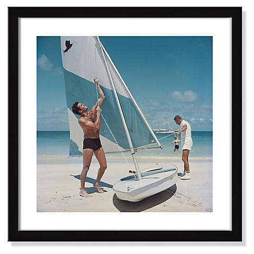 Slim Aarons, Boating in Antigua