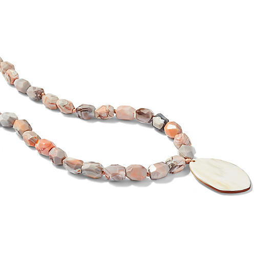 Botswana Pendant Necklace, Pink