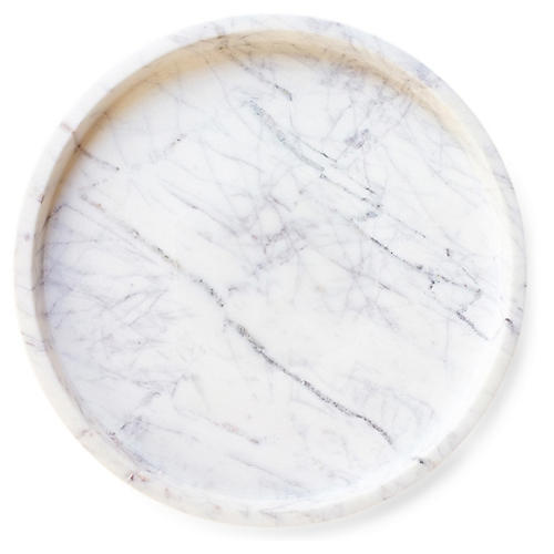 Royer Round Tray, Marble