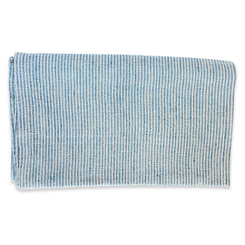 S/2 Handel Tea Towels, Blue/Ivory