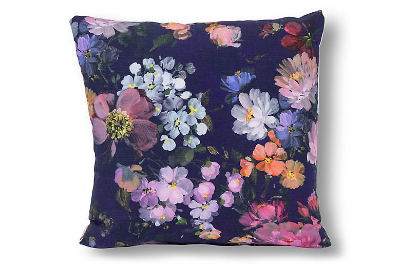 Cora 20x20 Pillow, Blue/Multi