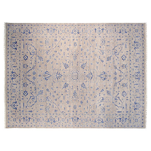 9'x12' Oushak Hand-Knotted Rug, Gray