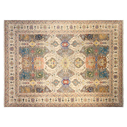 10'x14' Braxton Hand-Knotted Rug, Gray