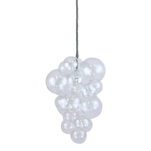 Waterfall Bubble Chandelier, Clear/Gray