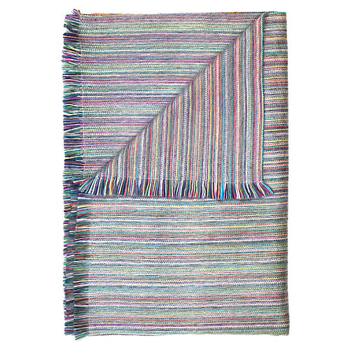 Alpaca Throw, Blue/Multi