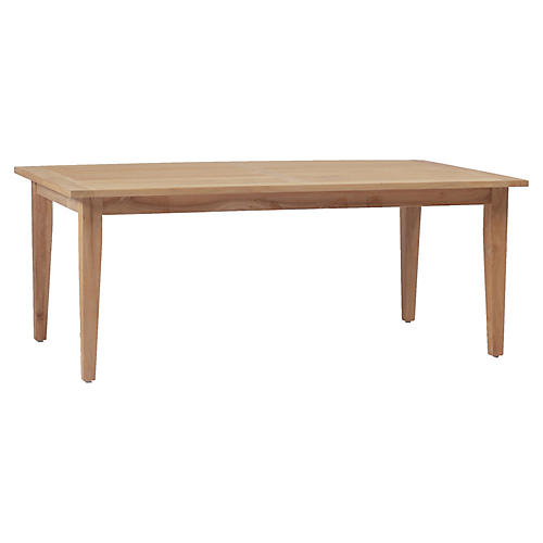 Farm Teak Dining Table, Natural