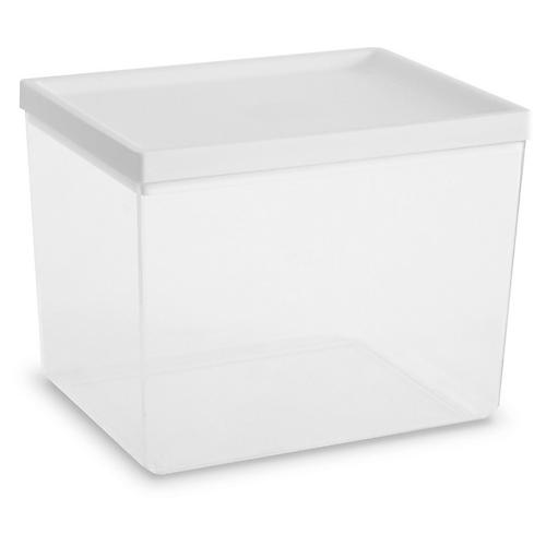 Asst. of 6 Ashby Containers, Clear/White