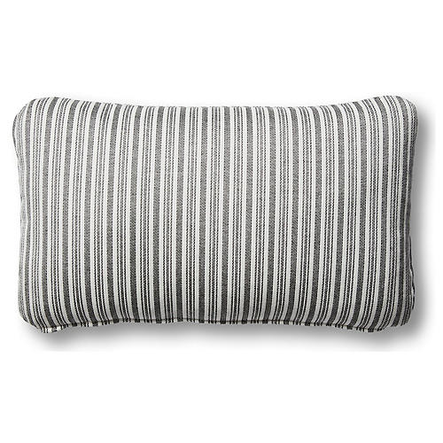 S/2 Alice Outdoor Lumbar Pillows, Black/White