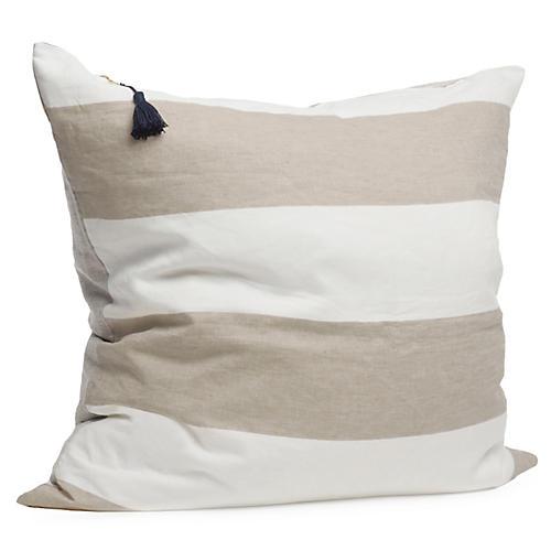 Harbour Island 26x26 Pillow, Oatmeal Linen