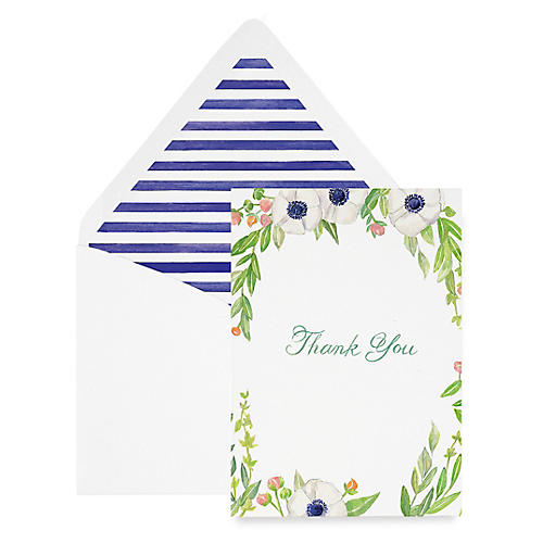 S/8 Floral Thank You Cards