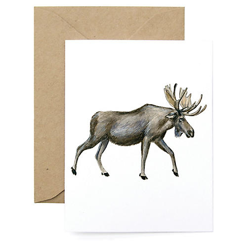 S/8 Moose Note Cards