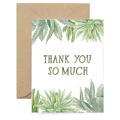 S/8 Succulent Thank You Cards