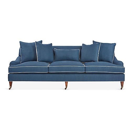 Santa Barbara Sofa, Blue Linen
