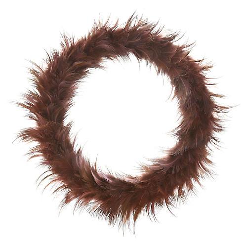 "10"" Feather Wreath"