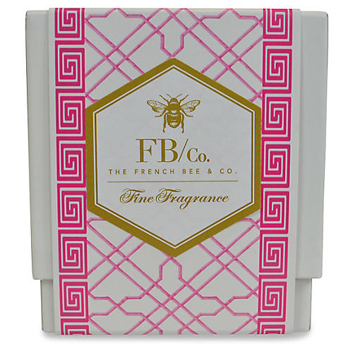 Pink Fretwork Candle, Lavender
